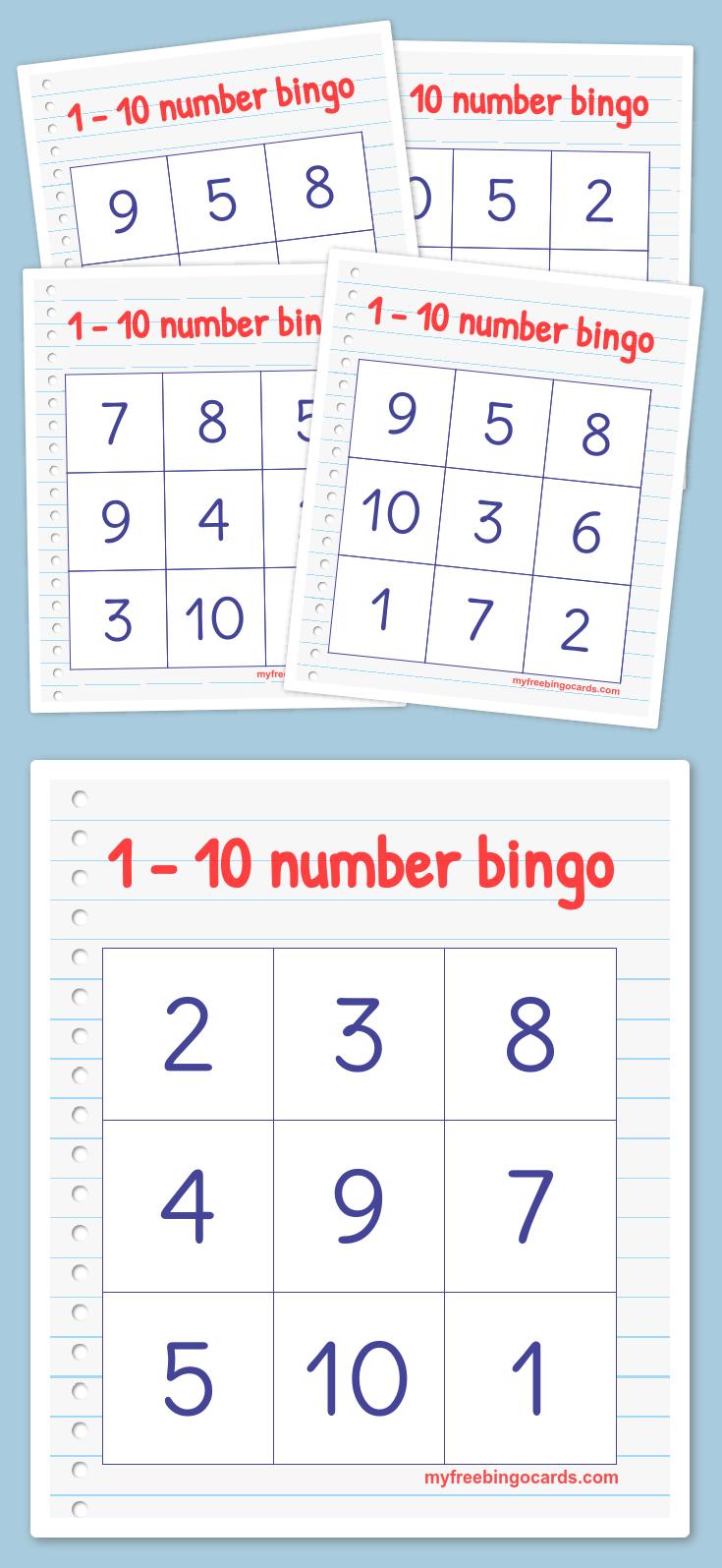 Free Printable Bingo Cards | Numbers Preschool, Numbers