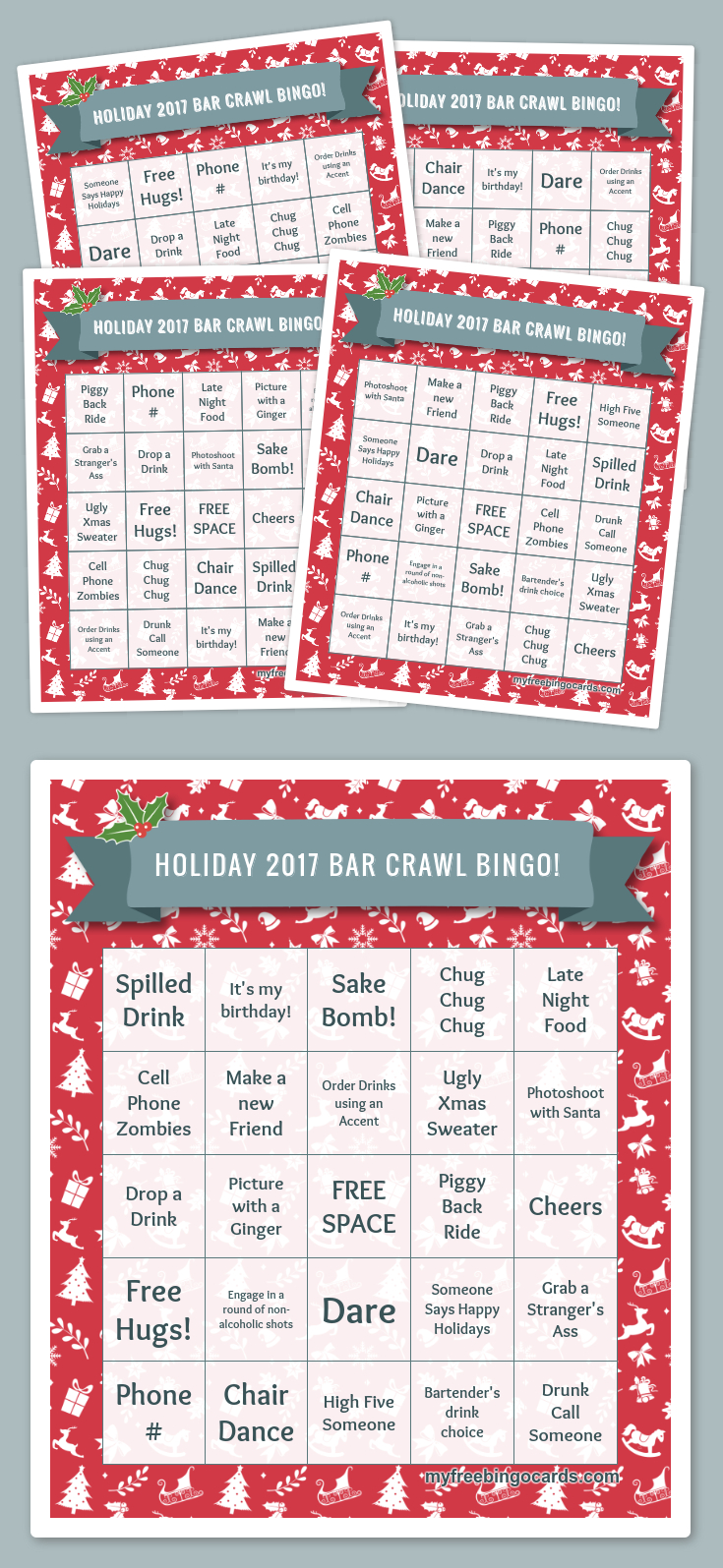 Free Printable Bingo Cards | Printable Christmas Bingo Cards