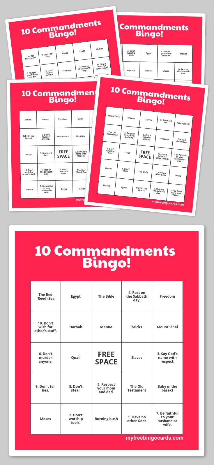 Free Printable Bingo Cards | Sunday School Games, Sunday