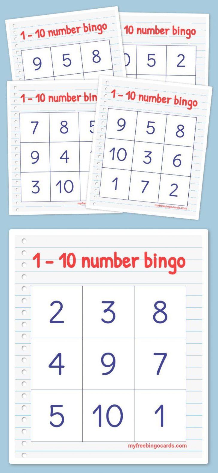 1-20 Bingo Cards Printable