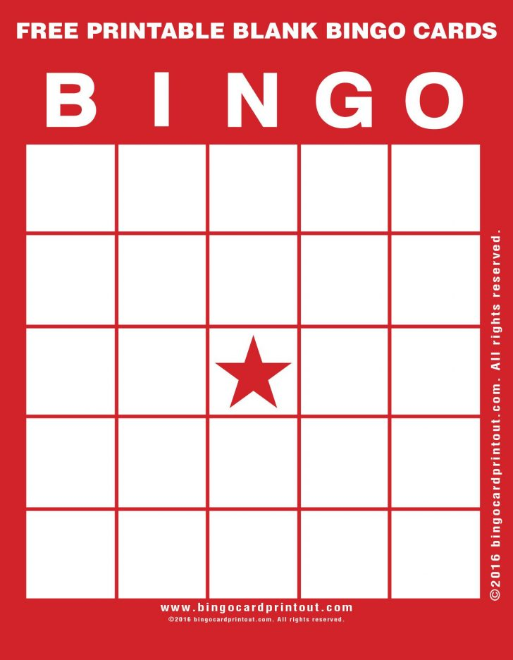 Bingo Cards Free Printable Blank
