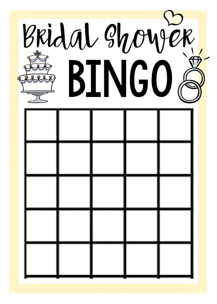 Free Printable Bridal Shower Bingo Cards