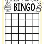 Free Printable Bridal Shower Games | Bridal Shower Bingo