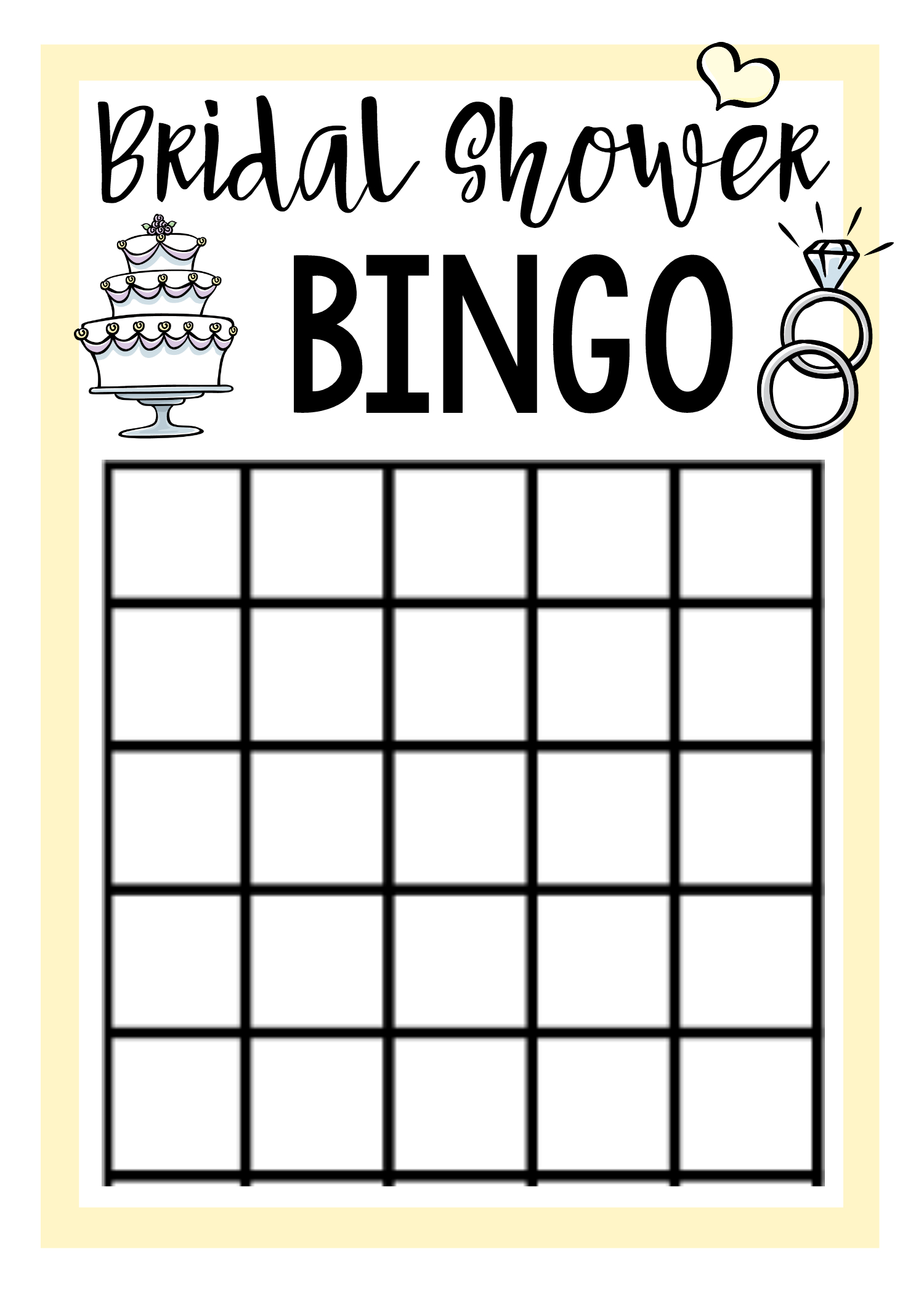 Free Printable Bridal Shower Games | Bridal Shower Bingo