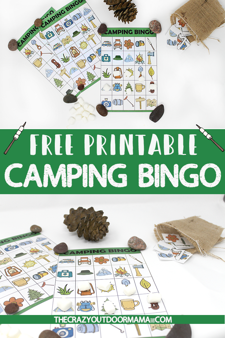 Free Printable Camping Bingo Cards - A Fun Camping Party Or