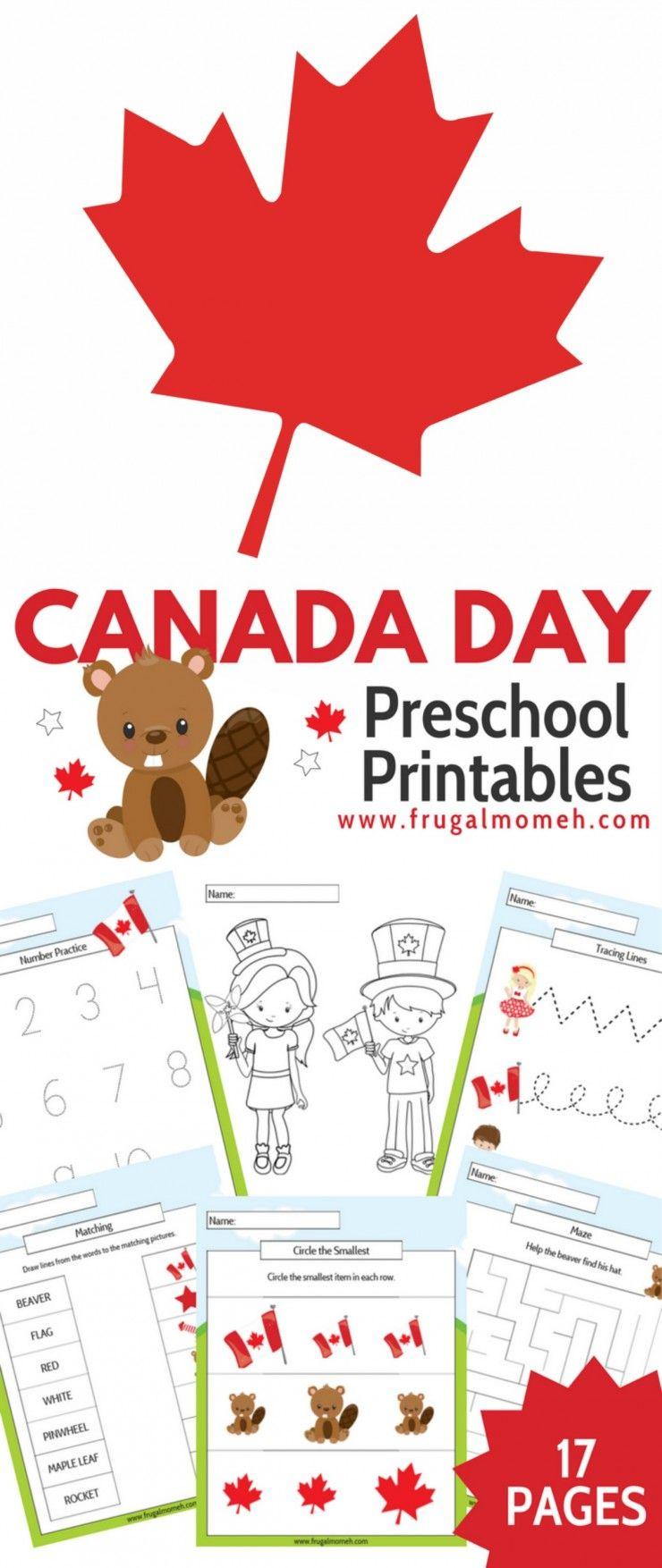 Free Printable Canada Day Preschool Activity Book | Frugal
