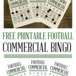 Free Printable Commercial Soccer Bingo | Sassy Southern