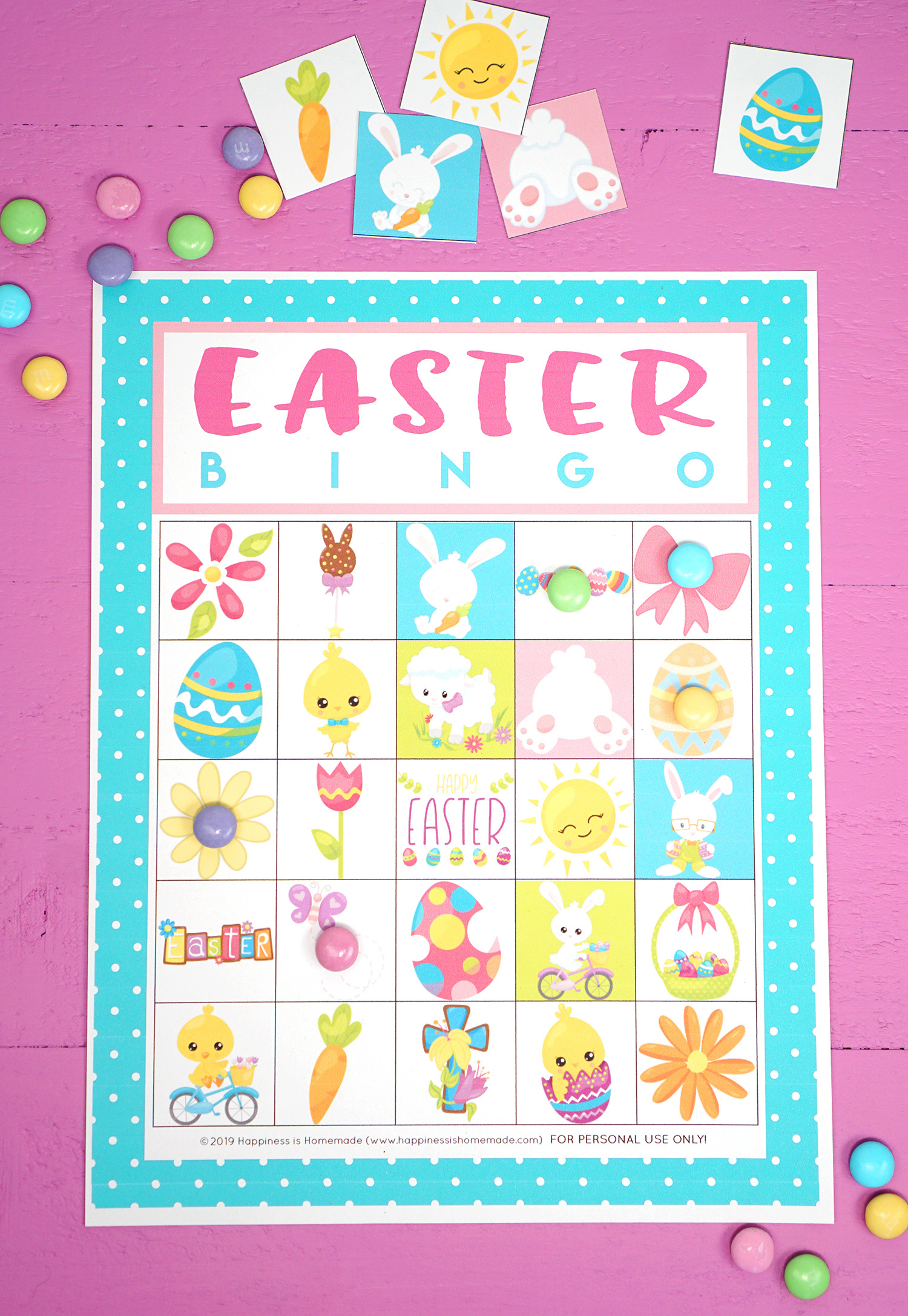 Free Printable Easter Bingo Game Cards - Happiness Is Homemade
