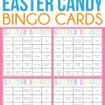 Free Printable Easter Candy Bingo Cards   Easter Party Games