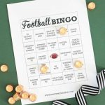 Free Printable Football Bingo Cards   Pretty Providence