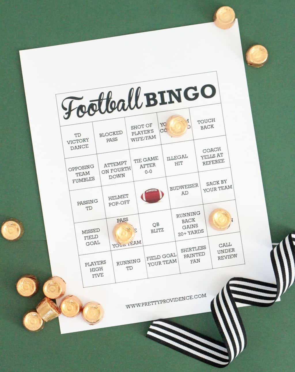 Free Printable Football Bingo Cards - Pretty Providence