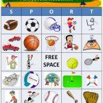 Free Printable For Sport Bingo. Click Here To Print Pdf Game