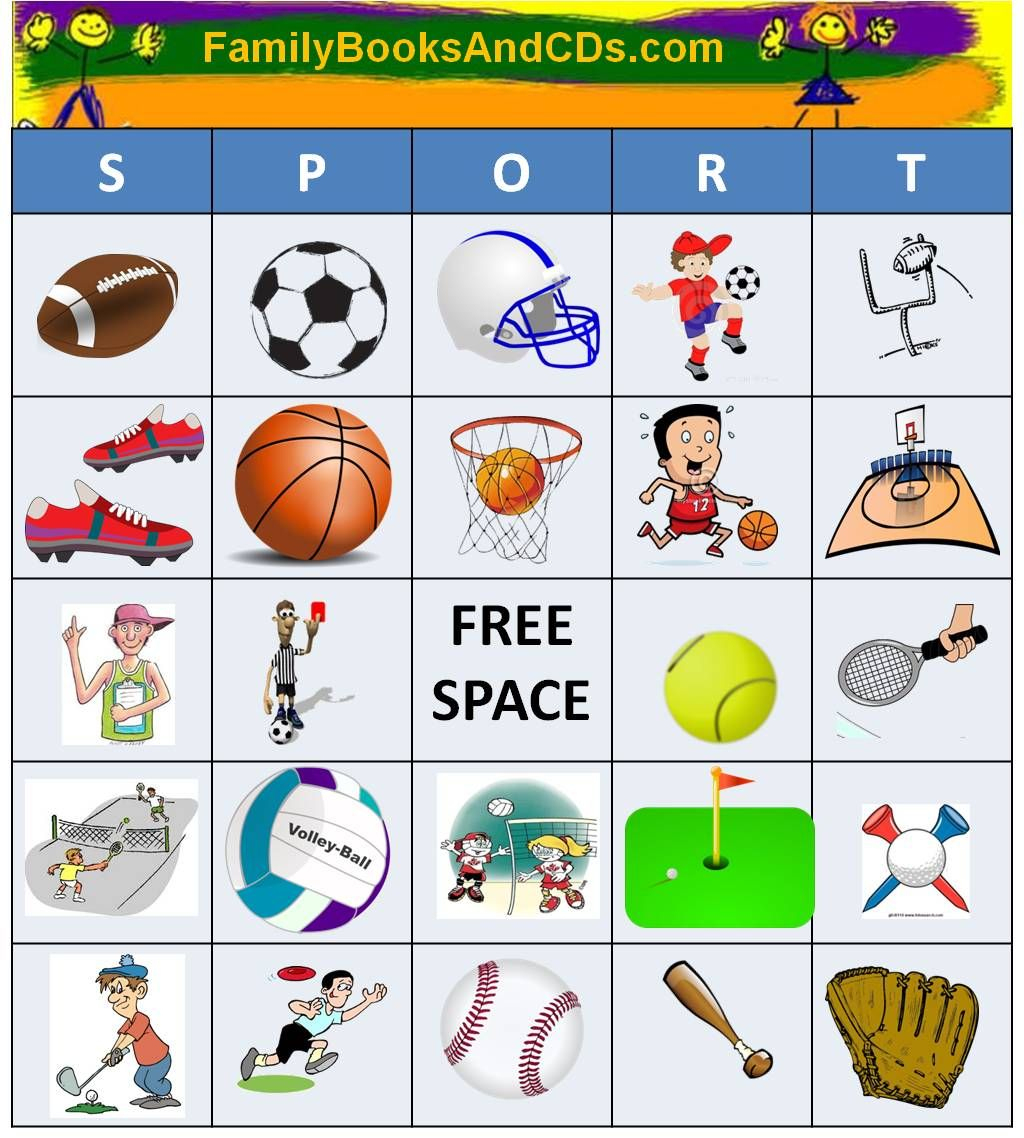 Free Printable For Sport Bingo. Click Here To Print Pdf Game