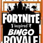 Free Printable Fortnite Inspired Bingo Game   Verjaardag
