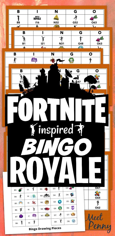 Free Printable Fortnite Inspired Bingo Game - Verjaardag