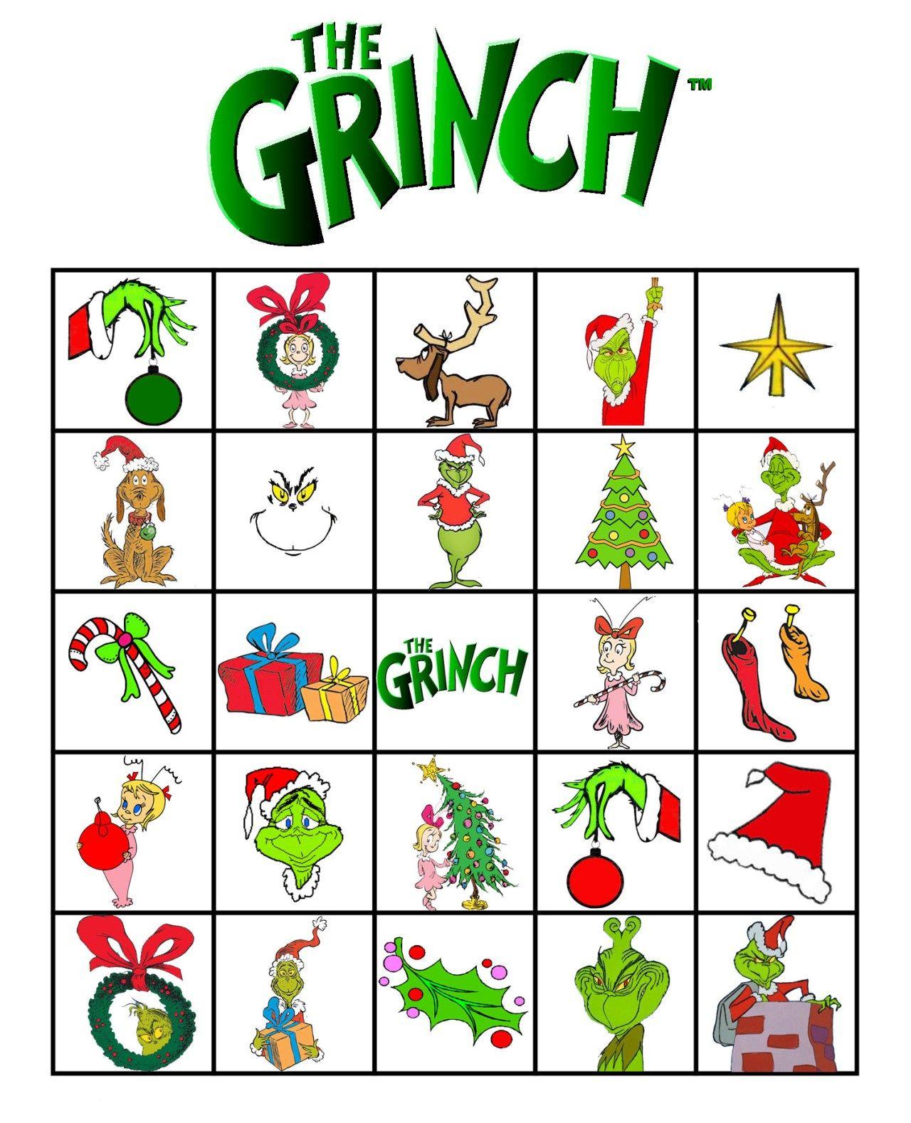 Free Printable Grinch Bingo! | School Christmas Party