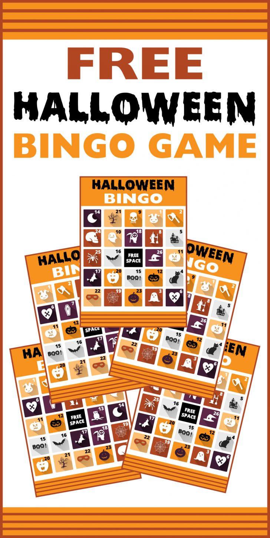 Free Halloween Picture Bingo Cards Printable