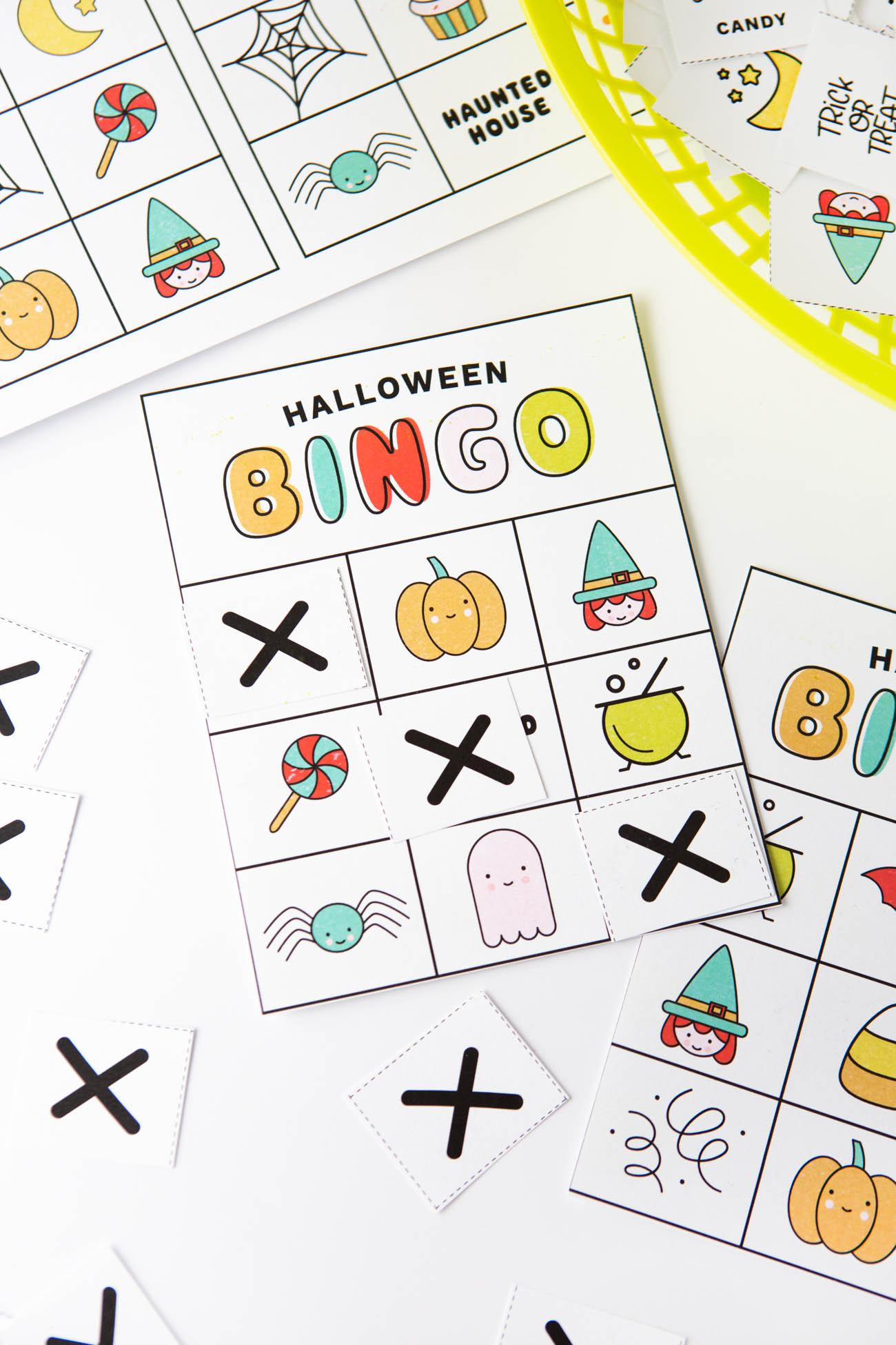 Free Printable Halloween Bingo Cards - Design Eat Repeat