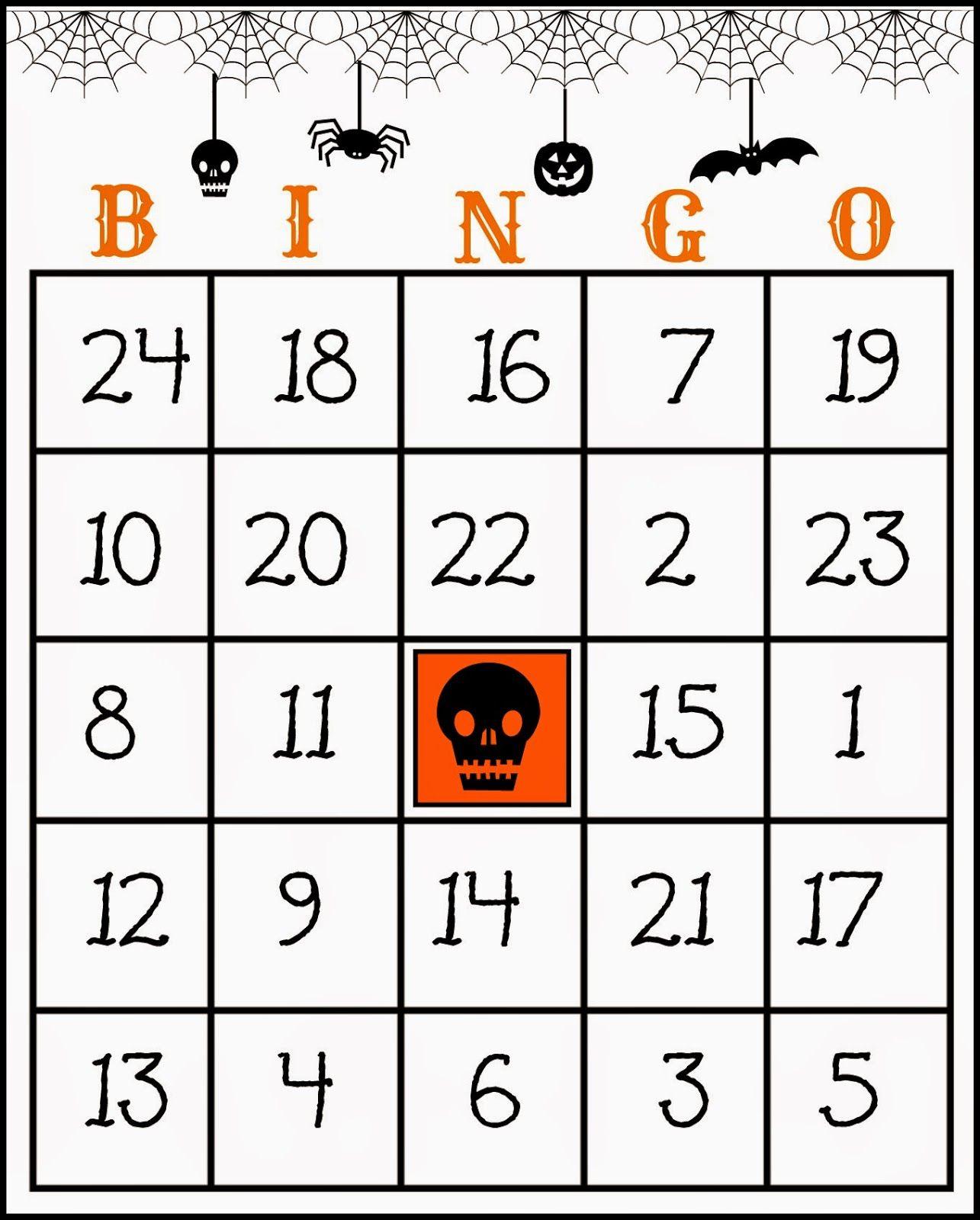Free Printable Halloween Bingo Game   Halloween Bingo Game