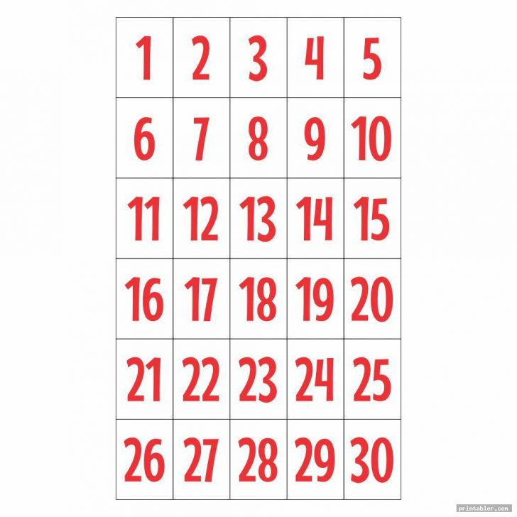 Bingo Cards 1-30 Printable