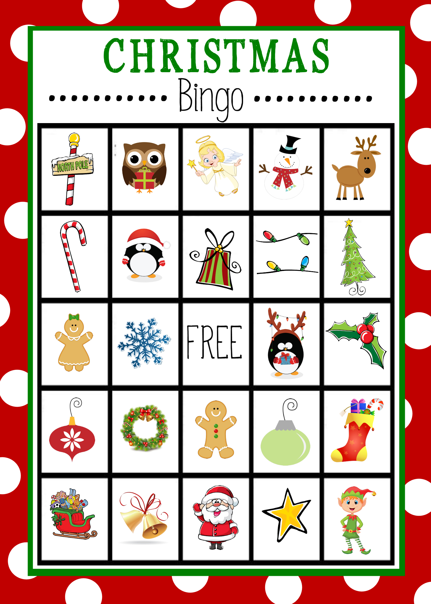 Free Printable Kids Christmas Bingo Game | Christmas Bingo