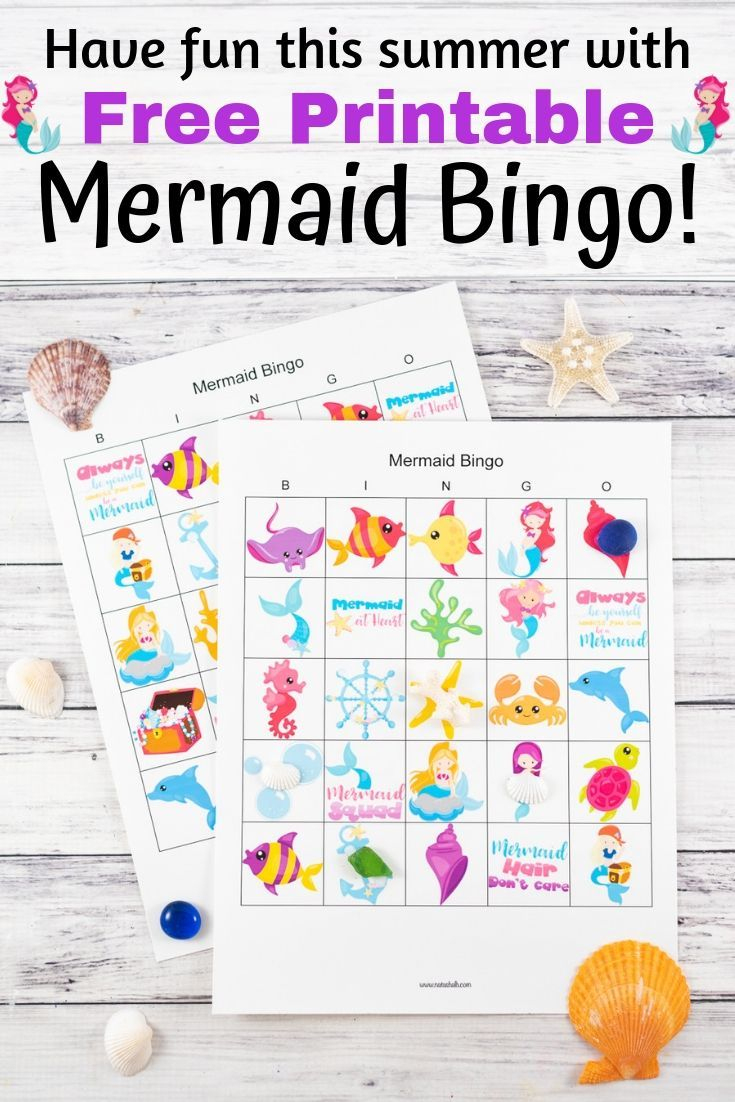 Free Printable Mermaid Bingo (Fun & Easy Mermaid Party