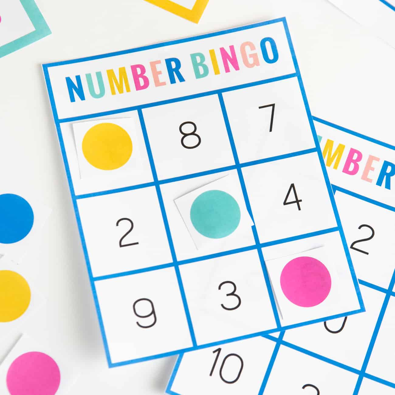 Free Printable Number Bingo - Design Eat Repeat