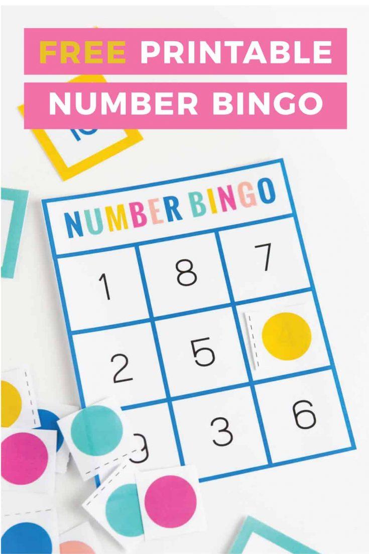Free Printable Number Bingo - Design Eat Repeat