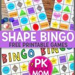 Free Printable Shape Bingo Game For Preschool! This Game Is