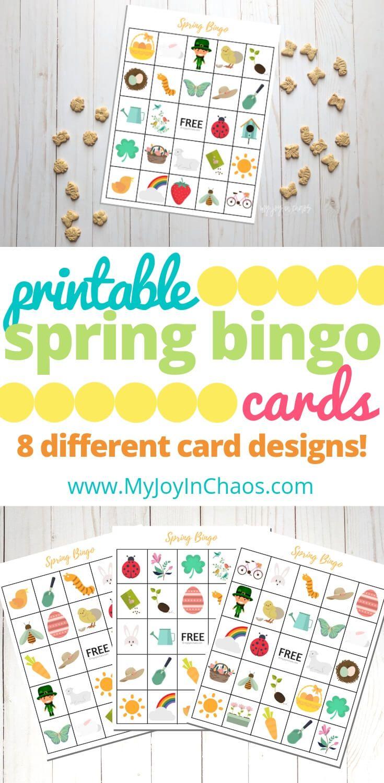 Free Printable Spring Bingo | Bingo, Free Printables, Bingo