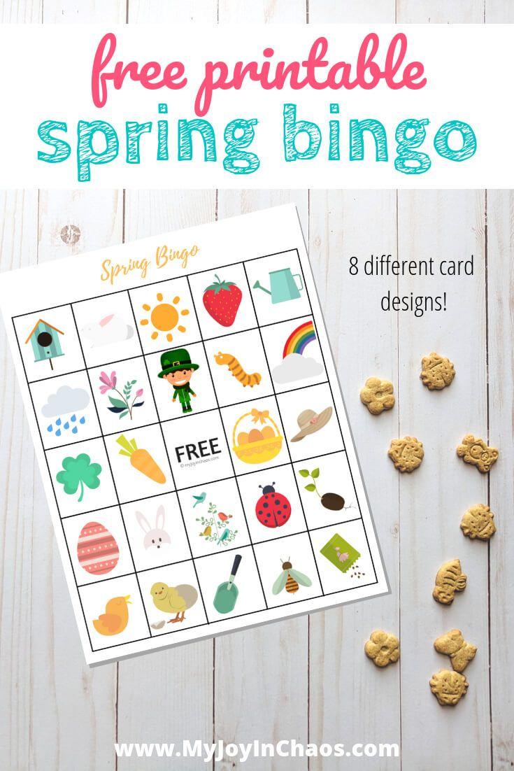 Free Printable Spring Bingo   Free Printables, Bingo, Card Games