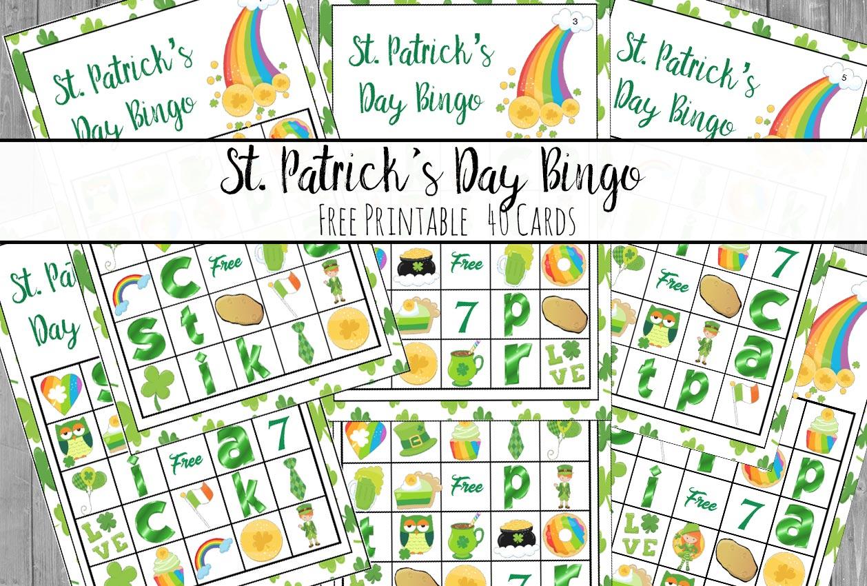 Free Printable St. Patrick's Day Bingo: 40 Cards