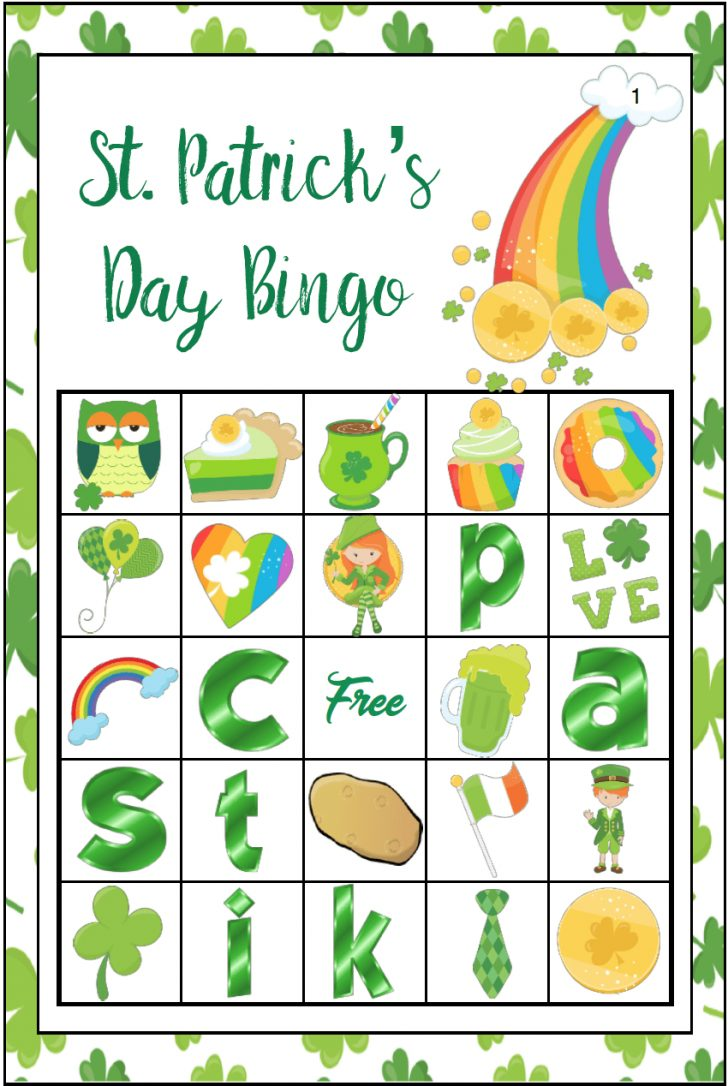 St Patrick's Day Free Bingo Cards Printable
