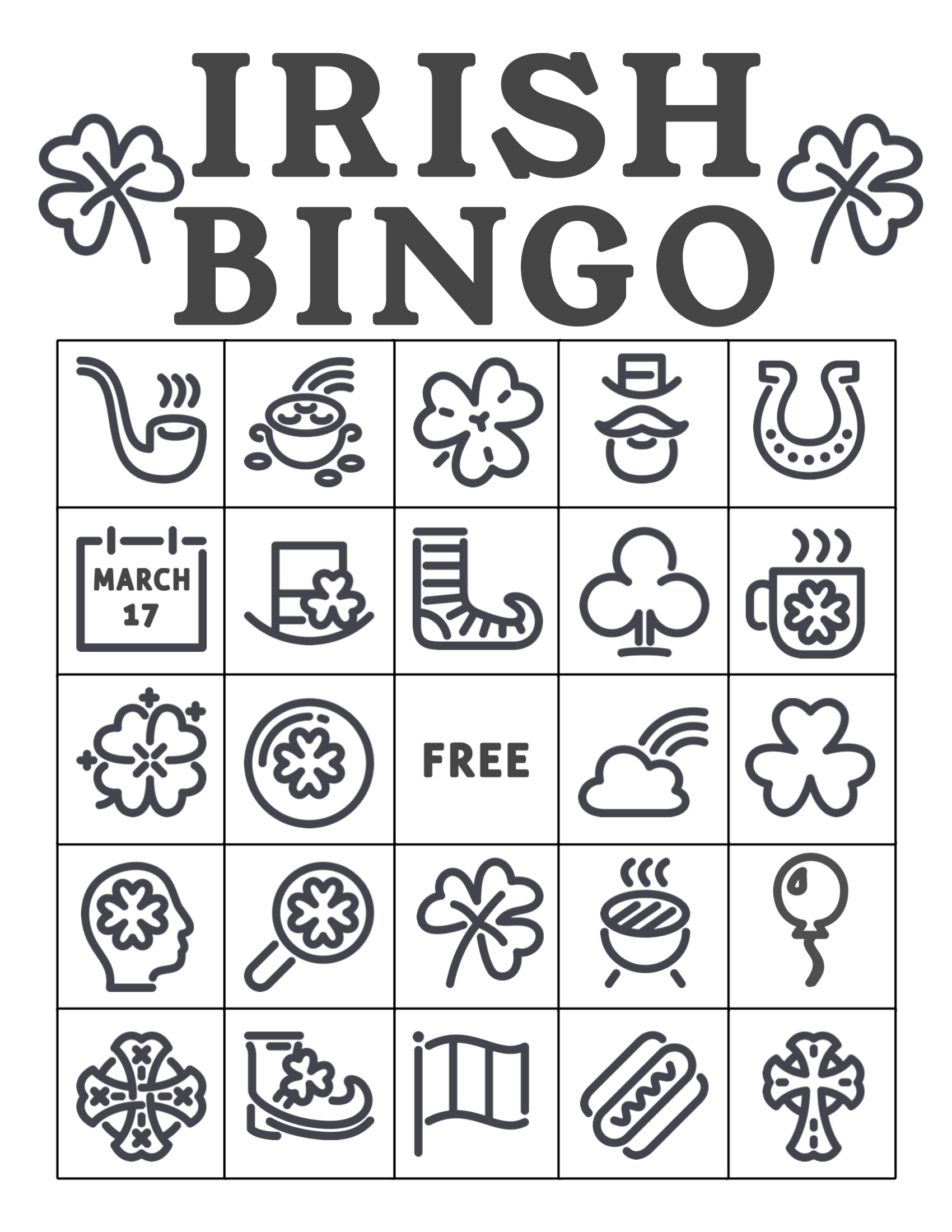 Free Printable St. Patrick's Day Bingo Cards - Paper Trail