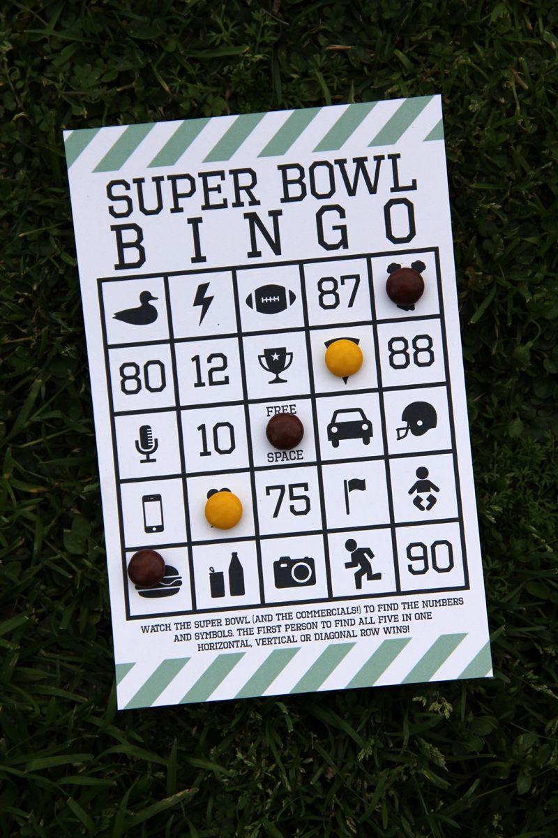 Free Printable Super Bowl Bingo | F00Tball ☆ Super B0Wl