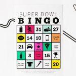 Free Printable Super Bowl Bingo | Super Bowl, Bingo, Free