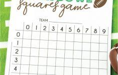 Free Printable Super Bowl Squares Template | Superbowl