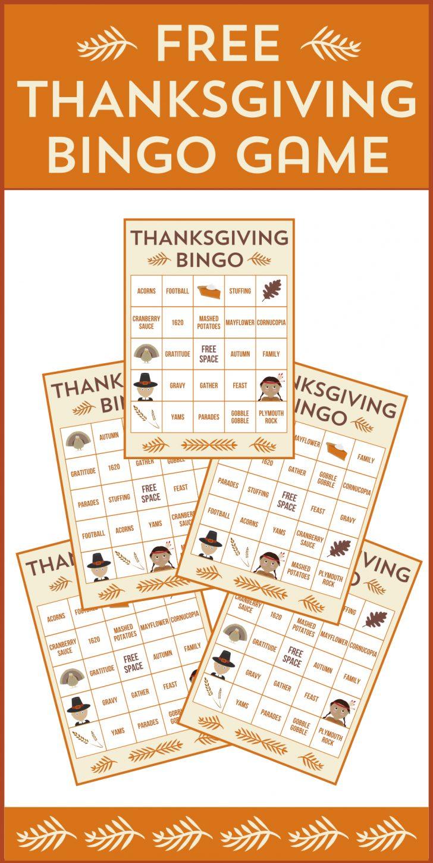 Printable Bingo Cards Thanksgiving