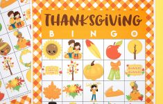 Free Printable Thanksgiving Bingo Cards – Happiness Is Homemade