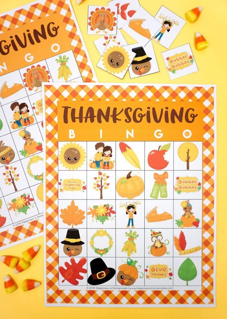 Printable Thanksgiving Bingo Cards 4 Per Page