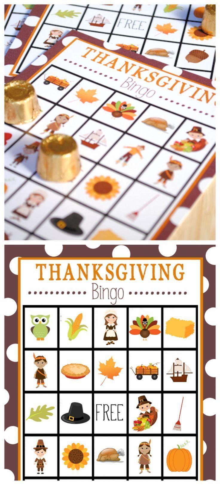 Free Printable Thanksgiving Bingo Game   Thanksgiving Bingo