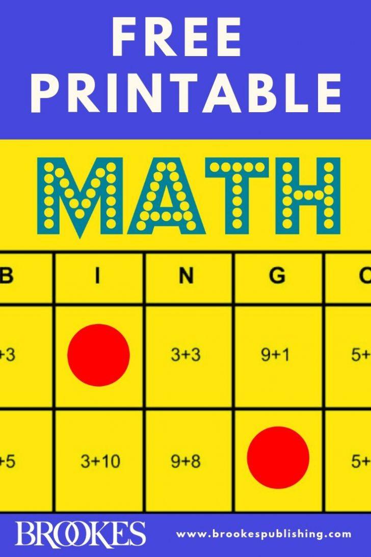 Math Bingo Printable Cards