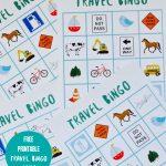 Free Printable Travel Bingo Game   Make Life Lovely