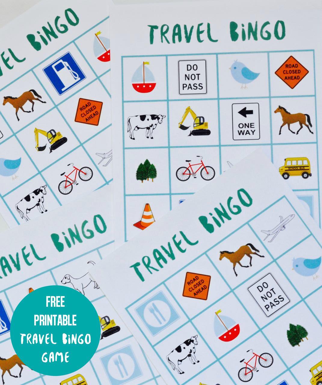 Free Printable Travel Bingo Game - Make Life Lovely