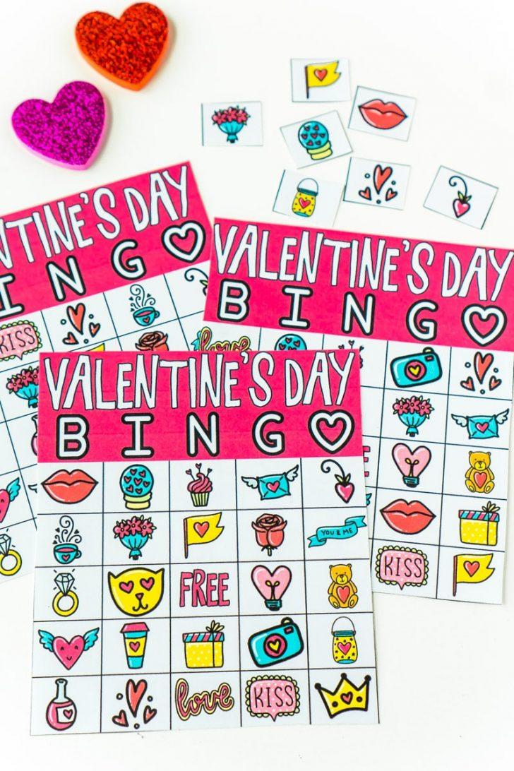 Valentine Day Bingo Cards Printable