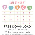 Free Printable Valentine Bingo Conversation Heart Cards
