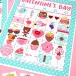 Free Printable Valentine Bingo   Happiness Is Homemade