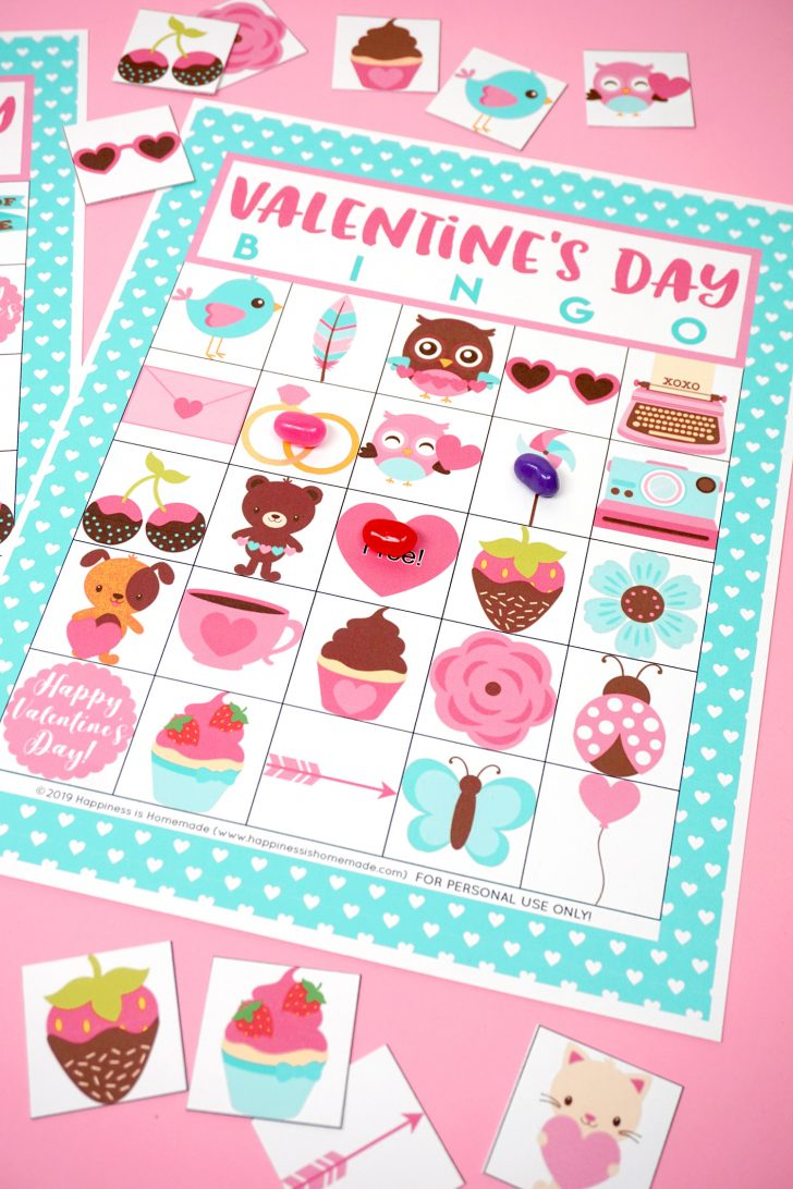 Printable Valentine Bingo Cards Free