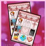 Free Printable Valentine's Day Jesus Loves Me Bingo Game