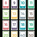 Free Printable Word Number Flash Cards. Download Them In Pdf